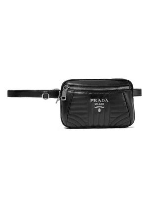 Prada - Quilted Leather Belt Bag - Black