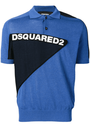 Dsquared2 logo polo shirt - Blue