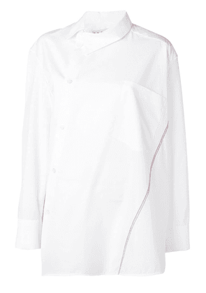 Marni oversized off-centre shirt - White