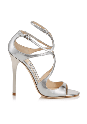 8454f6afad74 LANCE Silver Liquid Mirror Leather Sandals