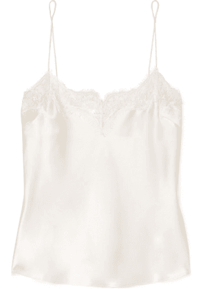 Anine Bing - Nellie Lace-trimmed Silk-satin Camisole - Ivory