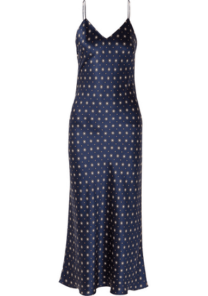 Anine Bing - Rosemary Printed Silk-satin Midi Dress - Navy
