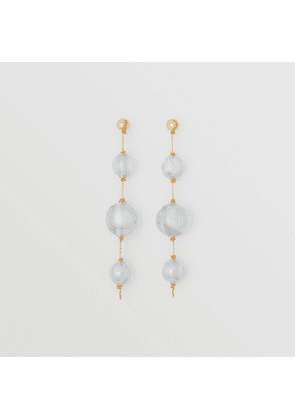 Burberry Marbled Resin Gold-plated Drop Earrings, Green