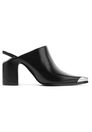 Alexander Wang - Metal-trimmed Leather Mules - Black