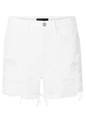 3x1 - Blake Distressed Denim Shorts - White