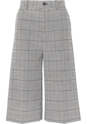 Balenciaga - Prince Of Wales Checked Woven Culottes - Gray