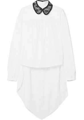 Christopher Kane - Lace-trimmed Cotton-poplin Shirt - White