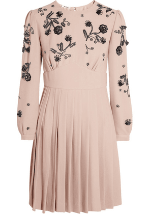 Miu Miu - Embellished Cady Dress - Pastel pink