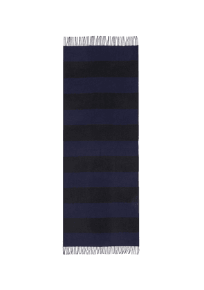 'Boucle Furrow' stripe lambswool blend scarf