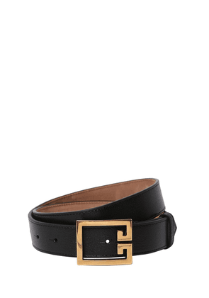 30mm Logo Leather Belt
