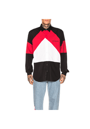 VETEMENTS Tracksuit Shirt in Black,Red,White