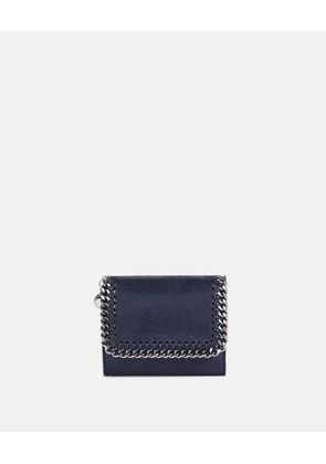 Stella McCartney Blue Ink Falabella Chamois Wallet, Women's, Size OneSize