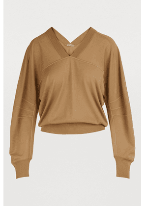 Puff-sleeved pullover
