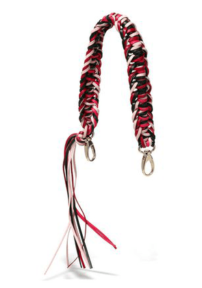 Red(v) Woman Braided Leather Bag Strap Black Size -