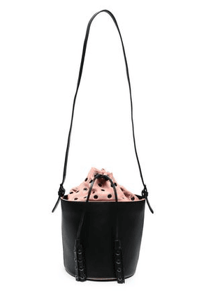 Red(v) Woman Leather Bucket Bag Black Size -