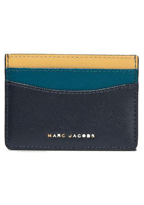 Marc Jacobs Woman Color-block Leather Cardholder Midnight Blue Size -