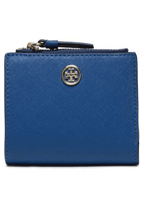 Tory Burch Woman Textured-leather Wallet Royal Blue Size -