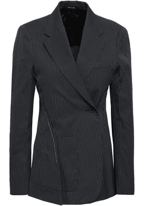 Maison Margiela Woman Double-breasted Pinstriped Cotton-blend Blazer Navy Size 36