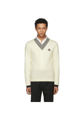 Gucci Off-White Embroidered Insect Sweater