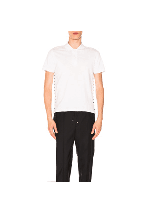 Valentino Studded Polo in White