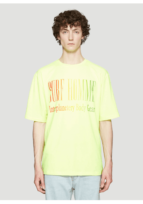 Ex Infinitas Surf Homme T-Shirt in Yellow size S