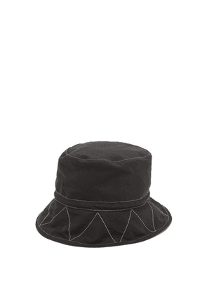 And Wander - Reflective Stitched Cotton Blend Bucket Hat - Mens - Black