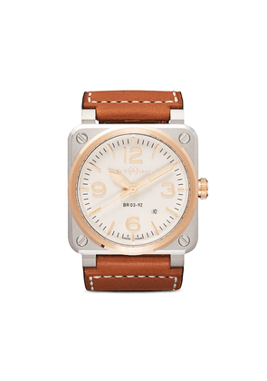 Bell & Ross BR03-92 Steel and Rose Gold 42mm - Opaline B Gold