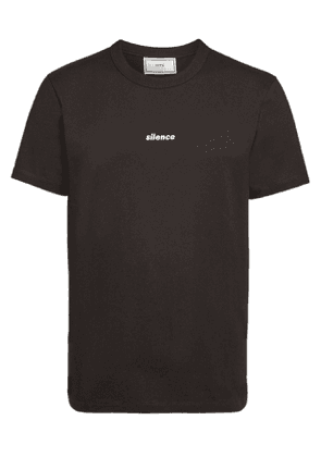 ami Cotton Embroidered Silence T-Shirt