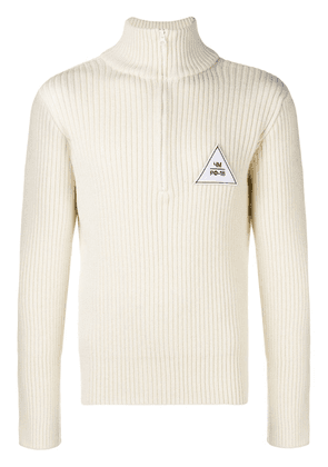 Gosha Rubchinskiy embroidered ribbed jumper - White