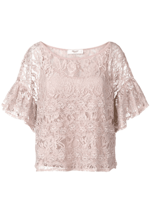 Blugirl embroidered floral lace top - Pink