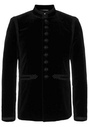 Saint Laurent velvet embroidered jacket - Black