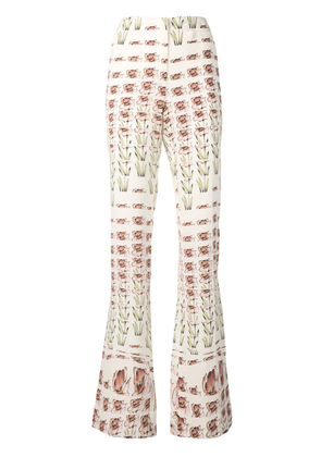 Prada crepe de chine trousers - White