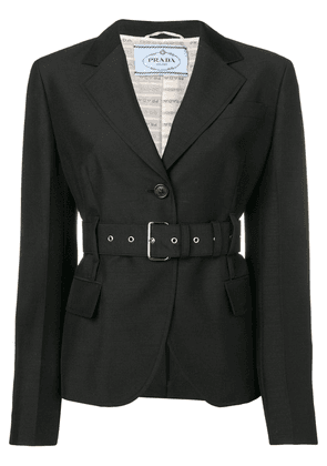 Prada cropped belted jacket - Black