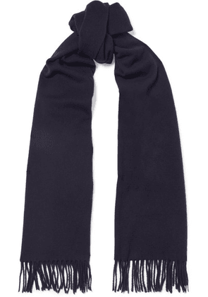 Acne Studios - Canada Narrow Fringed Wool Scarf - Navy