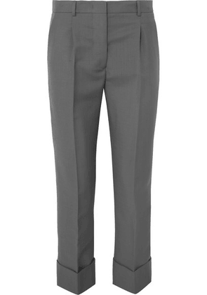 Prada - Cropped Mohair And Wool-blend Straight-leg Pants - Gray