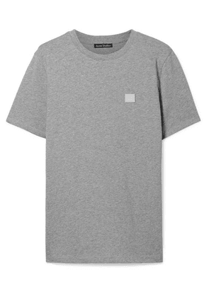 Acne Studios - Ellison Appliquéd Cotton-jersey T-shirt - Light gray