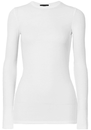 ATM Anthony Thomas Melillo - Ribbed Stretch-micro Modal Top - White