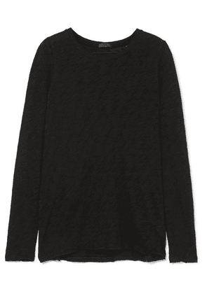 ATM Anthony Thomas Melillo - Distressed Slub Cotton-jersey Top - Black