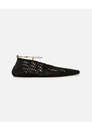 Stella McCartney Black Woven Ballet Flats, Women's, Size 2