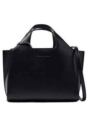 Victoria Beckham Woman Newspaper Small Leather Tote Black Size -