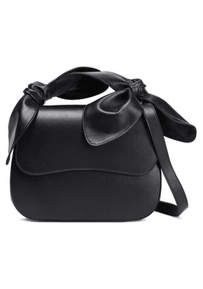 Simone Rocha Woman Knotted Leather Shoulder Bag Black Size -