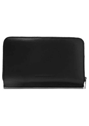Alexander Wang Woman Leather Continental Wallet Black Size -