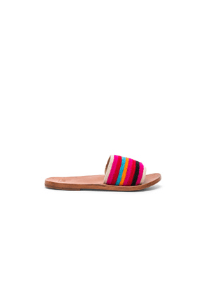 Beek Lovebird Sandal in Pink,Stripes
