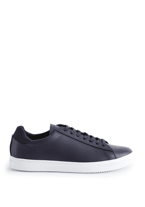 Reiss Bradley - Leather Sneakers in Navy, Mens, Size 8