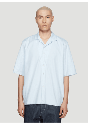 Camiel Fortgens Pinpoint School Short Sleeve Shirt in Blue size S