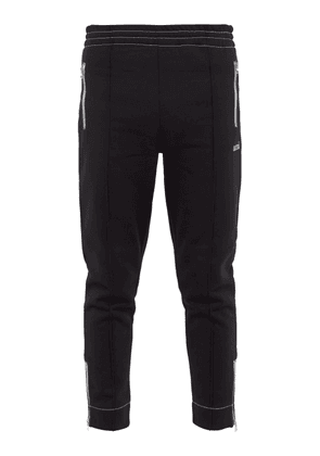 Ami - Logo Embroidered Track Pants - Mens - Black