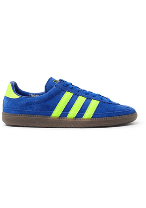 adidas Consortium - Spezial Whalley Leather-trimmed Suede Sneakers - Cobalt blue