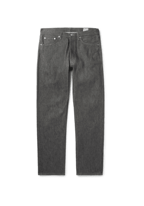 OrSlow - 105 Raw Denim Jeans - Gray