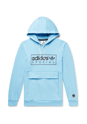 adidas Consortium - Spezial Banktop Logo-print Loopback Cotton-jersey Hoodie - Blue