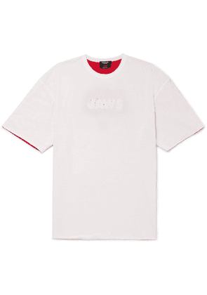CALVIN KLEIN 205W39NYC - Oversized Distressed Printed Double-faced Cotton-jersey T-shirt - White